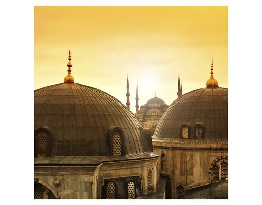 Produktfoto Fensterfolie - Sichtschutz Fenster Über den Dächern von Istanbul - Fensterbilder