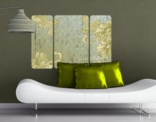 Produktfoto Selbstklebendes Wandbild Floraler Barock Triptychon II