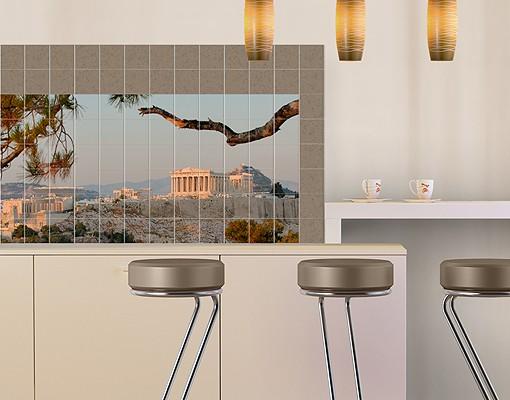 Produktfoto Fliesenbild Akropolis