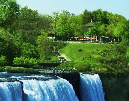 Produktfoto Selbstklebendes Wandbild Wasserfalllandschaft