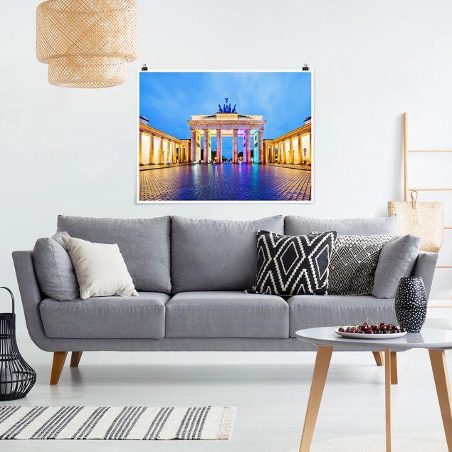 Produktfoto Poster - Erleuchtetes Brandenburger Tor - Querformat 3:4