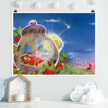 Produktfoto Poster - Erdbeerinchen Erdbeerfee - Schlaf gut! - Querformat 3:4