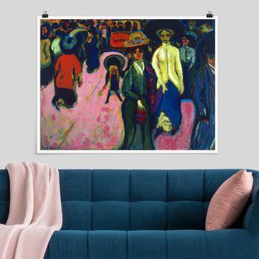 Immagine del prodotto Poster - Ernst Ludwig Kirchner - Via A Dresda - Orizzontale 3:4