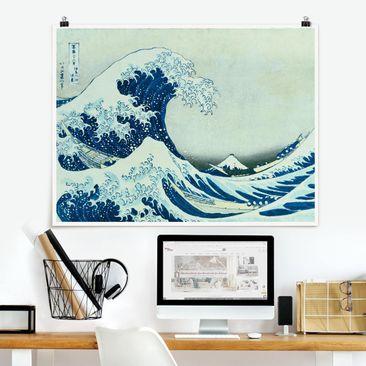 Produktfoto Poster - Katsushika Hokusai - Die grosse Welle von Kanagawa - Querformat 3:4