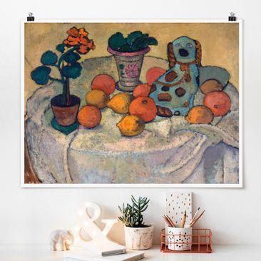 Produktfoto Poster - Paula Modersohn-Becker - Stillleben mit Orangen - Querformat 3:4