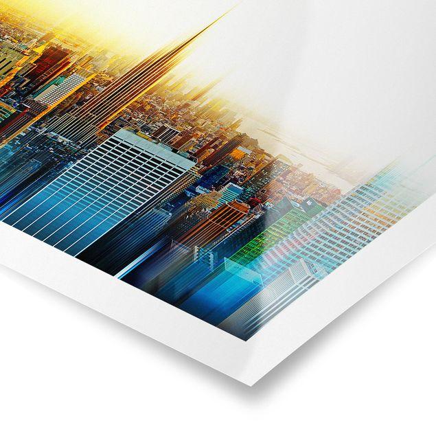 Produktfoto Poster - Manhattan Abstrakt - Querformat 3:4