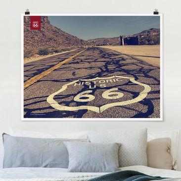 Produktfoto Poster - Route 66 - Historisch - Querformat 3:4