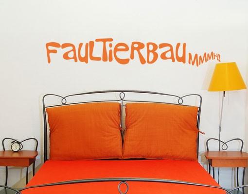 Produktfoto Wandtattoo Sprüche - Wandworte No.UL696 FaultierBau