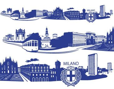Product picture Wall Decal no.FB80 Milan Skyline XXL