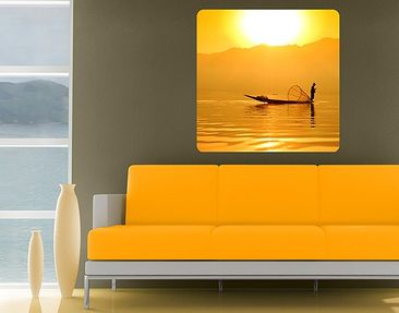 Produktfoto Wall Mural Fisherman In The Sunrise