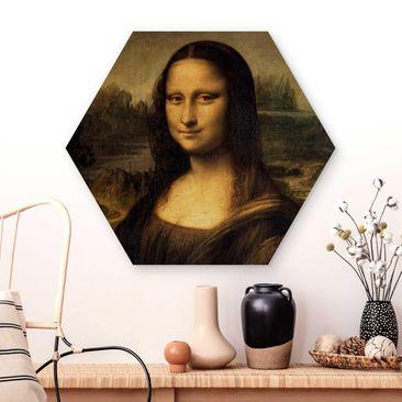 Produktfoto Hexagon Bild Holz Leonardo da Vinci - Mona Lisa in Wohnambiente Artikelnummer 264667-WA