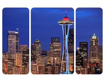 Product picture Wall Mural Seattle Triptych II