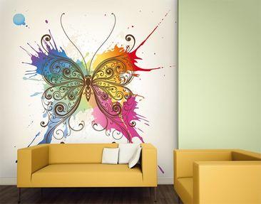 Produktfoto Mustertapete selbstklebend - Aquarell Schmetterling