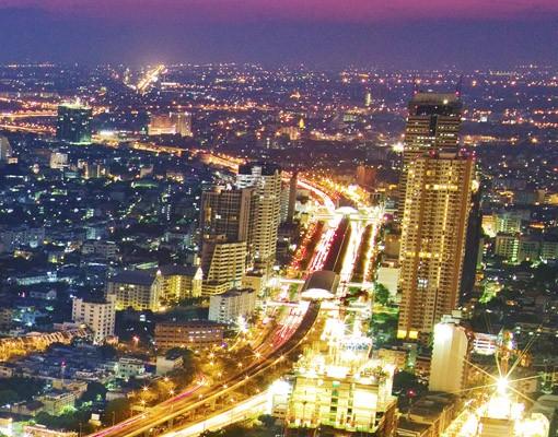 Produktfoto Selbstklebendes Wandbild Bangkok Skyline