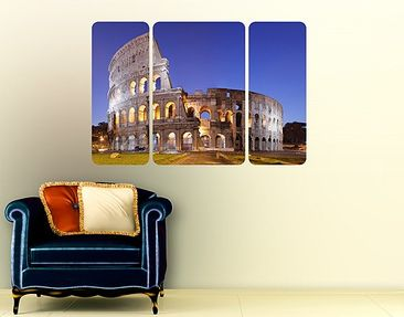 Produktfoto Wall Mural Illuminated Colosseum...