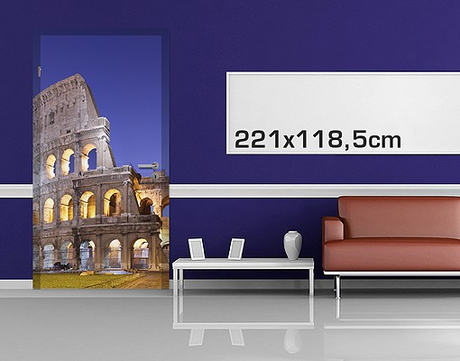 Produktfoto TürTapete Erleuchtetes Kolosseum
