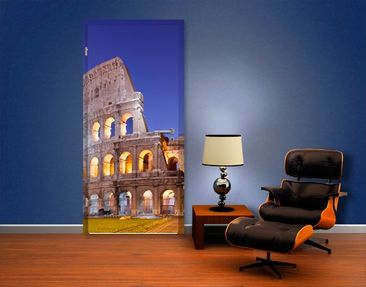 Product picture Door Wall Mural Illuminated Colosseum