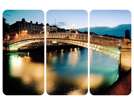 Produktfoto Selbstklebendes Wandbild Ha'penny Bridge Triptychon I