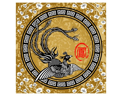 Produktfoto Fliesenbild Asiatischer Pfau