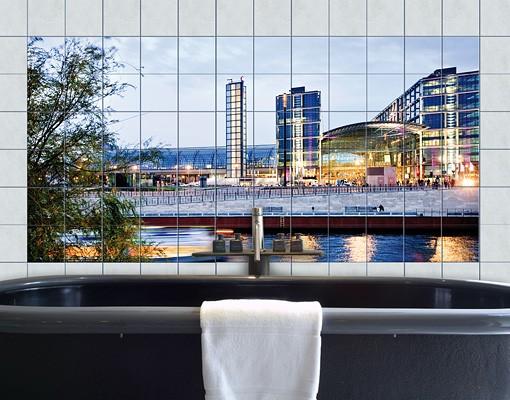 Produktfoto Fliesenbild Berliner Hauptbahnhof