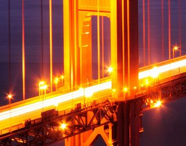 Product picture Wall Mural Golden Gate Bridge At Night...