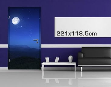 Product picture Door Photo Wall Mural Full Moon Wish