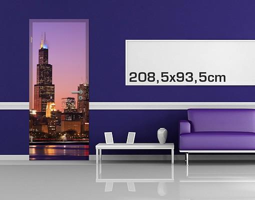 Produktfoto TürTapete Chicago Skyline