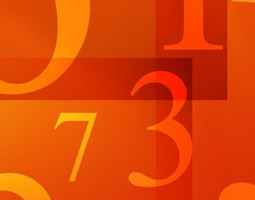 Product picture Wall Mural Numbers Triptych I