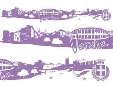 Product picture Wall Decal no.FB79 Verona Skyline XXL