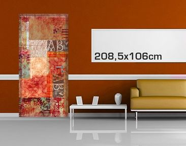 Product picture Door Photo Wall Mural Calligraphy...
