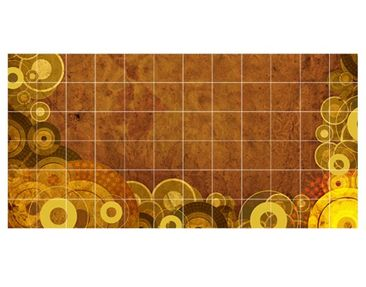 Product picture Tile Mural Golden Circles