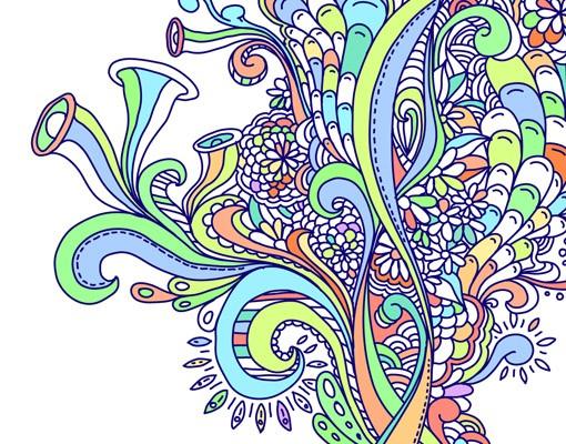 Produktfoto Selbstklebendes Wandbild Blütenrausch Triptychon II