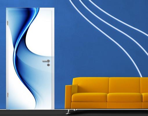 Produktfoto TürTapete Blaue Wandlung