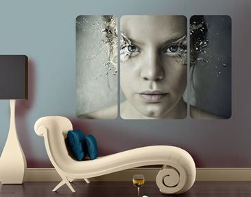 Produktfoto Wall Mural Emotional Woman Triptych II