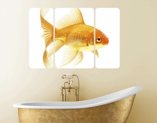 Produktfoto Selbstklebendes Wandbild Frau Goldfisch...
