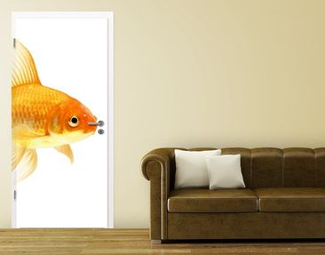 Produktfoto Door Photo Wall Mural Miss Goldfish