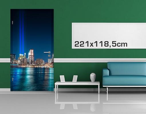 Produktfoto Türtapete New York -  Lichter des World Trade Centers