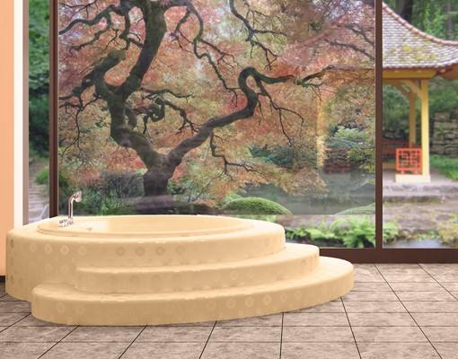 Fensterfolie Sichtschutz Fenster Japanischer Garten Fensterbilder