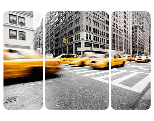 Produktfoto Selbstklebendes Wandbild Rasantes New York Triptychon II