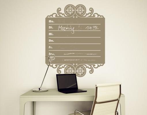 Produktfoto Wandtattoo Kreidetafel No.MW69 Wochenkalender