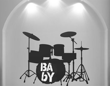 Product picture Wall Decal Chalkboard no.AC72 Drum Kit