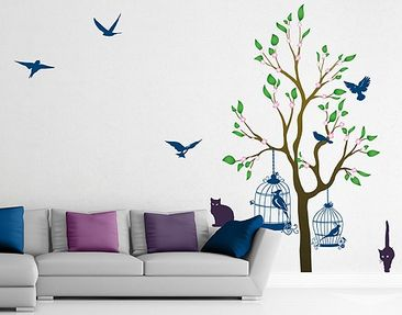 Immagine del prodotto Adesivo murale no.RS57 Cats And Birds