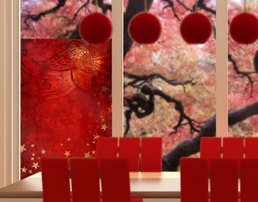 Produktfoto Fensterfolie - Sichtschutz Fenster Liebesengel - Fensterbilder