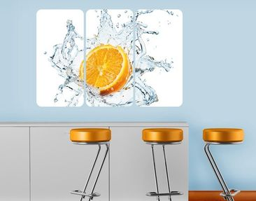 Produktfoto Wall Mural Fresh Orange Triptych I