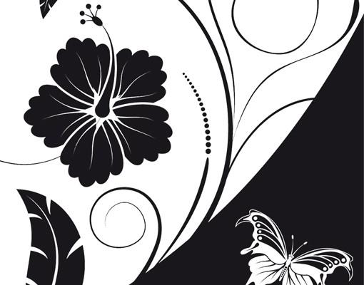 Produktfoto Selbstklebendes Wandbild Floraler Kontrast Triptychon II