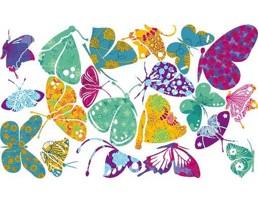 Produktfoto Wandtattoo Schmetterling No.RS74 Bunte Schmetterlinge