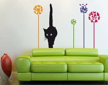 Produktfoto Wall Decal no.RS76 Cat In Meadow