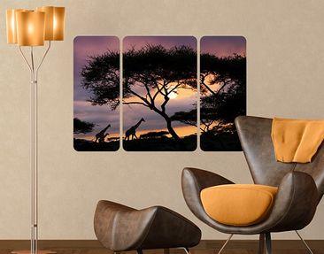 Produktfoto Wall Mural Safari In Africa Triptych II