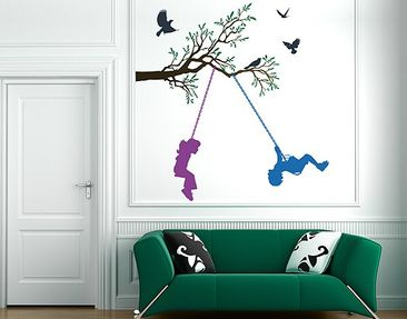 Produktfoto Wall Decal no.RS84 Children On Swings