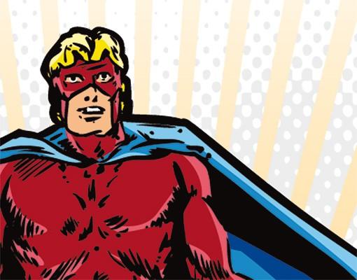 Produktfoto Selbstklebendes Wandbild Superheld
